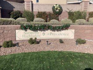 Saratoga Highlands and Providence Sign