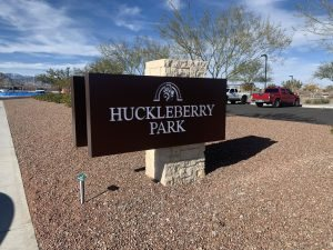 Huckleberry Park Providence Sign