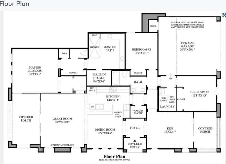 The Oakmont at The Ridges Floor Plan